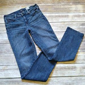 NYDJ Marilyn Straight Leg Jean Blue size 12